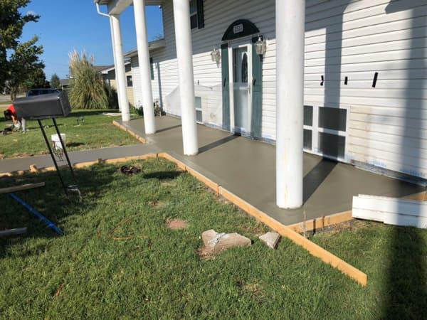 concrete porches for home in Dallas TX