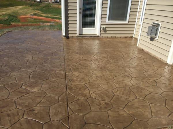 concrete patio textured concrete