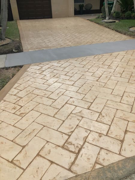 stamped concrete driveway in Dallas TX